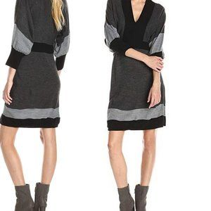 Connected Apparel Dolman Sleeve Sweater Dress